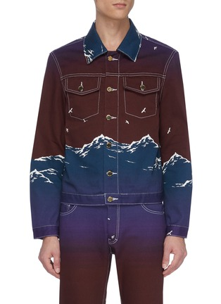 Main View - Click To Enlarge - CASABLANCA - Mountain print denim jacket