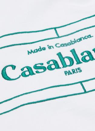 - CASABLANCA - 'Tennis Court' logo embroidered hoodie