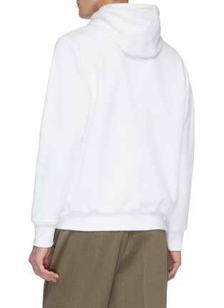 Back View - Click To Enlarge - CASABLANCA - 'Tennis Court' logo embroidered hoodie