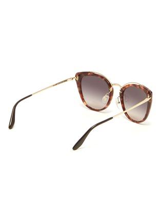 Figure View - Click To Enlarge - PRADA - Tortoiseshell acetate rim metal cat eye sunglasses