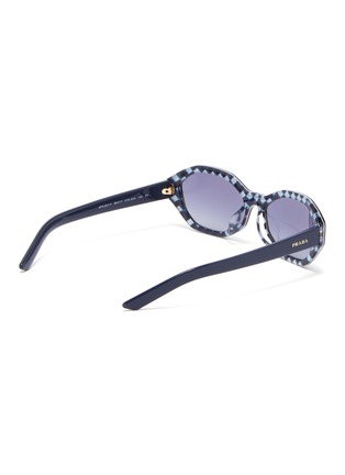 32b2a6f2ea21 Figure View - Click To Enlarge - PRADA - Tortoiseshell effect rim acetate  oval sunglasses