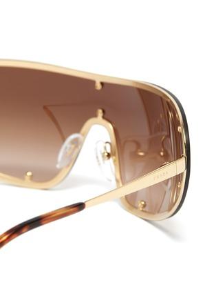 Detail View - Click To Enlarge - PRADA - Single lens metal sunglasses