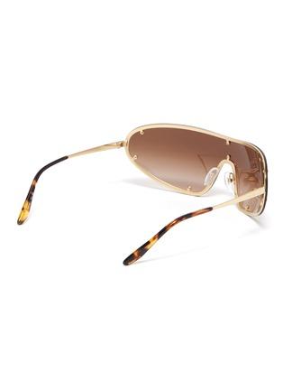 Figure View - Click To Enlarge - PRADA - Single lens metal sunglasses
