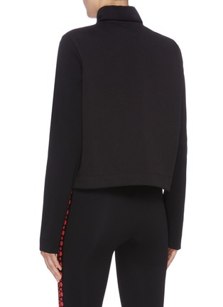 Back View - Click To Enlarge - NO KA'OI - 'Powerhouse' stripe colourblock front performance jacket