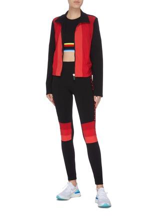 Figure View - Click To Enlarge - NO KA'OI - 'Powerhouse' stripe colourblock front performance jacket