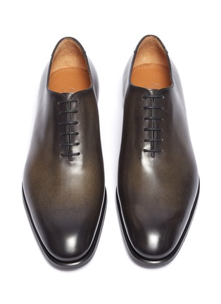 Detail View - Click To Enlarge - ANTONIO MAURIZI - Wholecut leather Oxfords