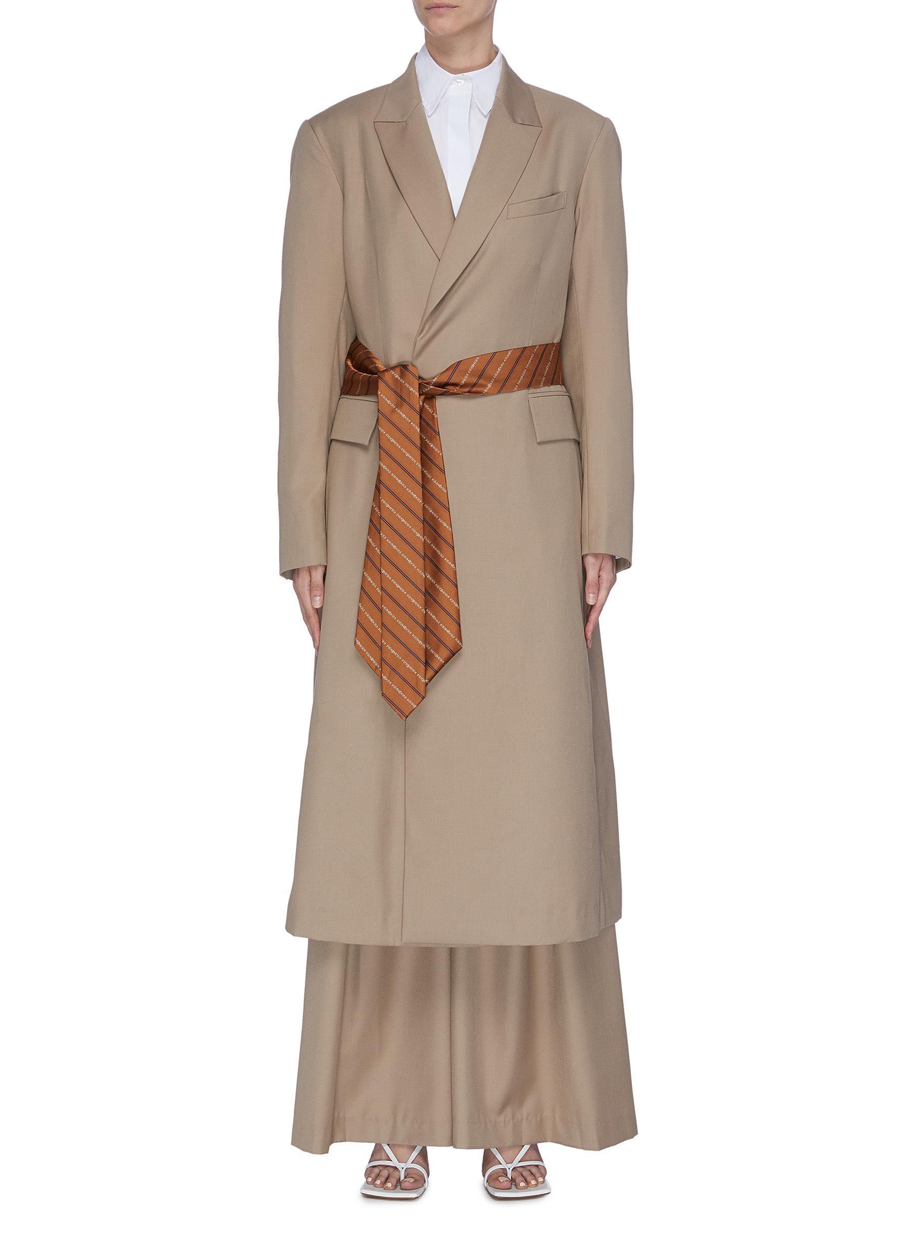 Belted coat dress by Kimhekim