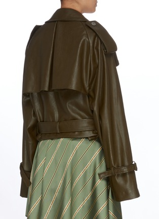 Back View - Click To Enlarge - KIMHĒKIM - Belted double-breast jacket