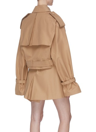 Back View - Click To Enlarge - KIMHĒKIM - Belted double-breasted trench jacket