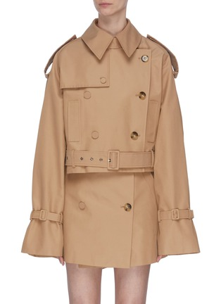 Main View - Click To Enlarge - KIMHĒKIM - Belted double-breasted trench jacket