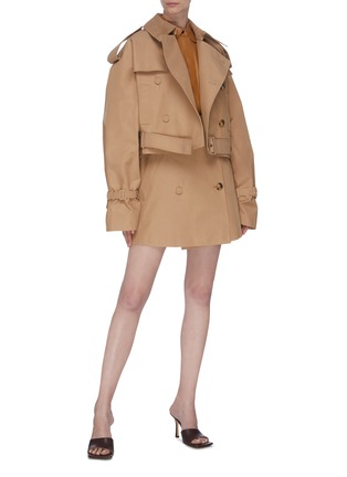 Figure View - Click To Enlarge - KIMHĒKIM - Belted double-breasted trench jacket