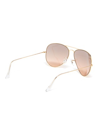 Figure View - Click To Enlarge - RAY-BAN - 'Aviator Gradient' mirror metal round sunglasses