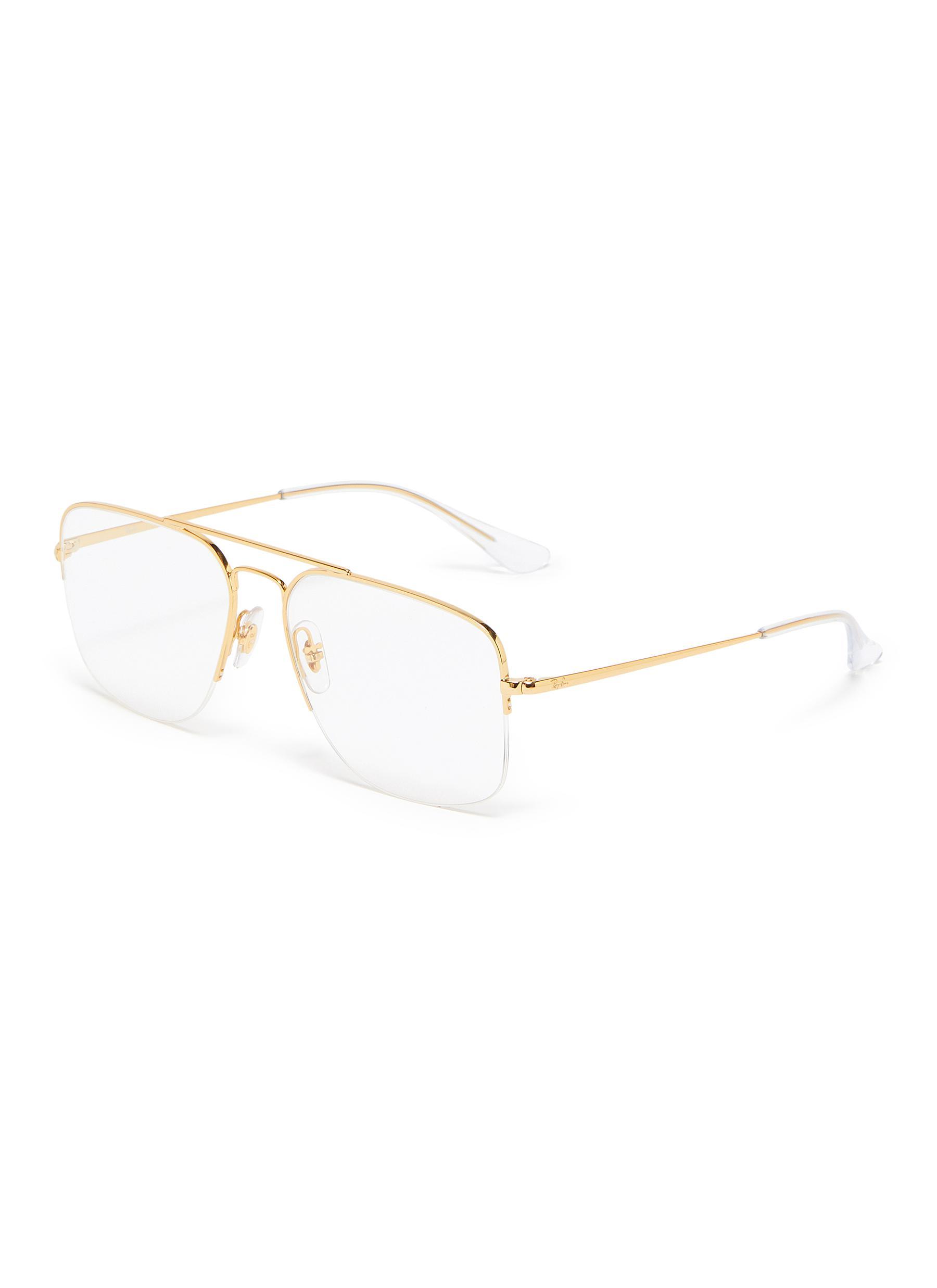 aa9de9a78c RAY-BAN | 'General Gaze' metal aviator optical glasses | Women ...