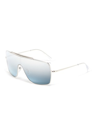 Main View - Click To Enlarge - RAY-BAN - 'Wings II' metal one-piece aviator sunglasses