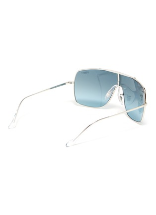 Figure View - Click To Enlarge - RAY-BAN - 'Wings II' metal one-piece aviator sunglasses