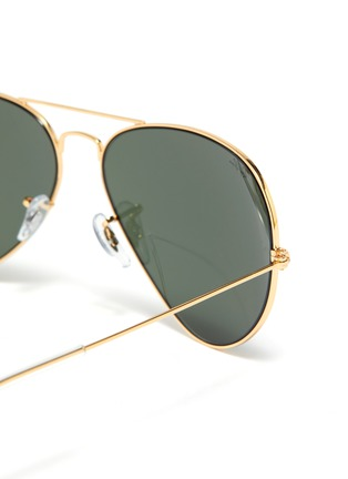 Detail View - Click To Enlarge - RAY-BAN - 'Aviator Gradient' mirror metal round sunglasses