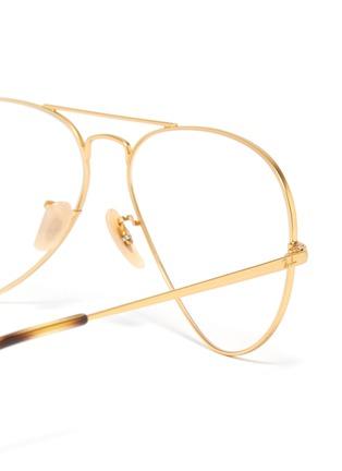 Detail View - Click To Enlarge - RAY-BAN - 'Aviator Optics' metal optical glasses