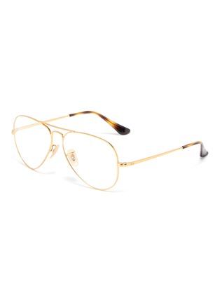 Main View - Click To Enlarge - RAY-BAN - 'Aviator Optics' metal optical glasses