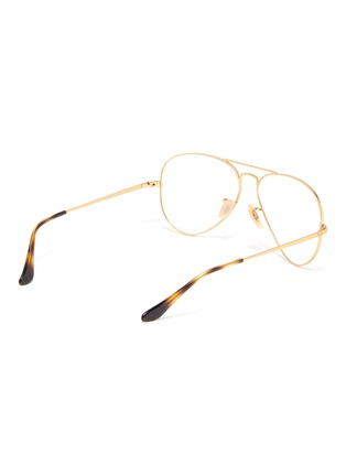 Figure View - Click To Enlarge - RAY-BAN - 'Aviator Optics' metal optical glasses
