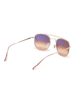 Figure View - Click To Enlarge - RAY-BAN - 'Marshal II' hexagonal frame metal sunglasses
