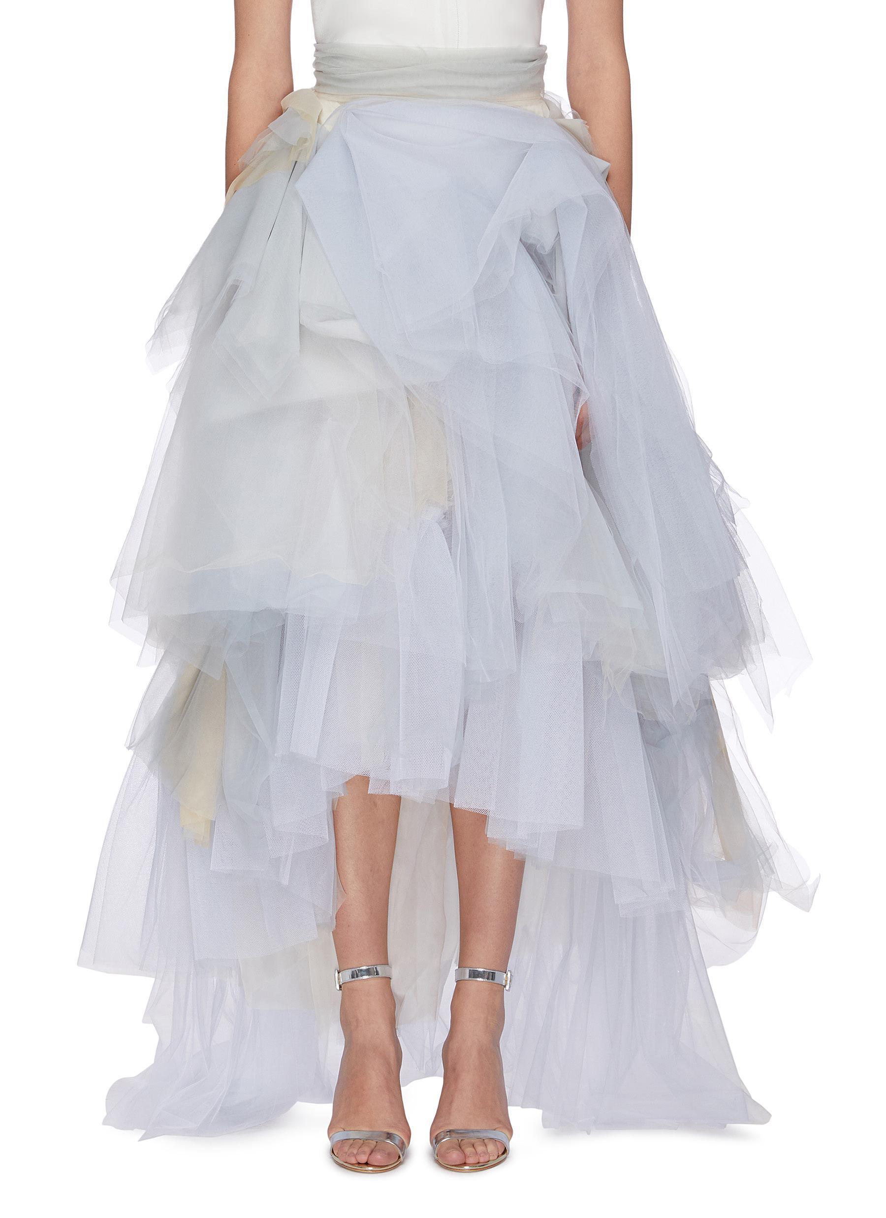 Brushstroke tulle skirt by Maticevski