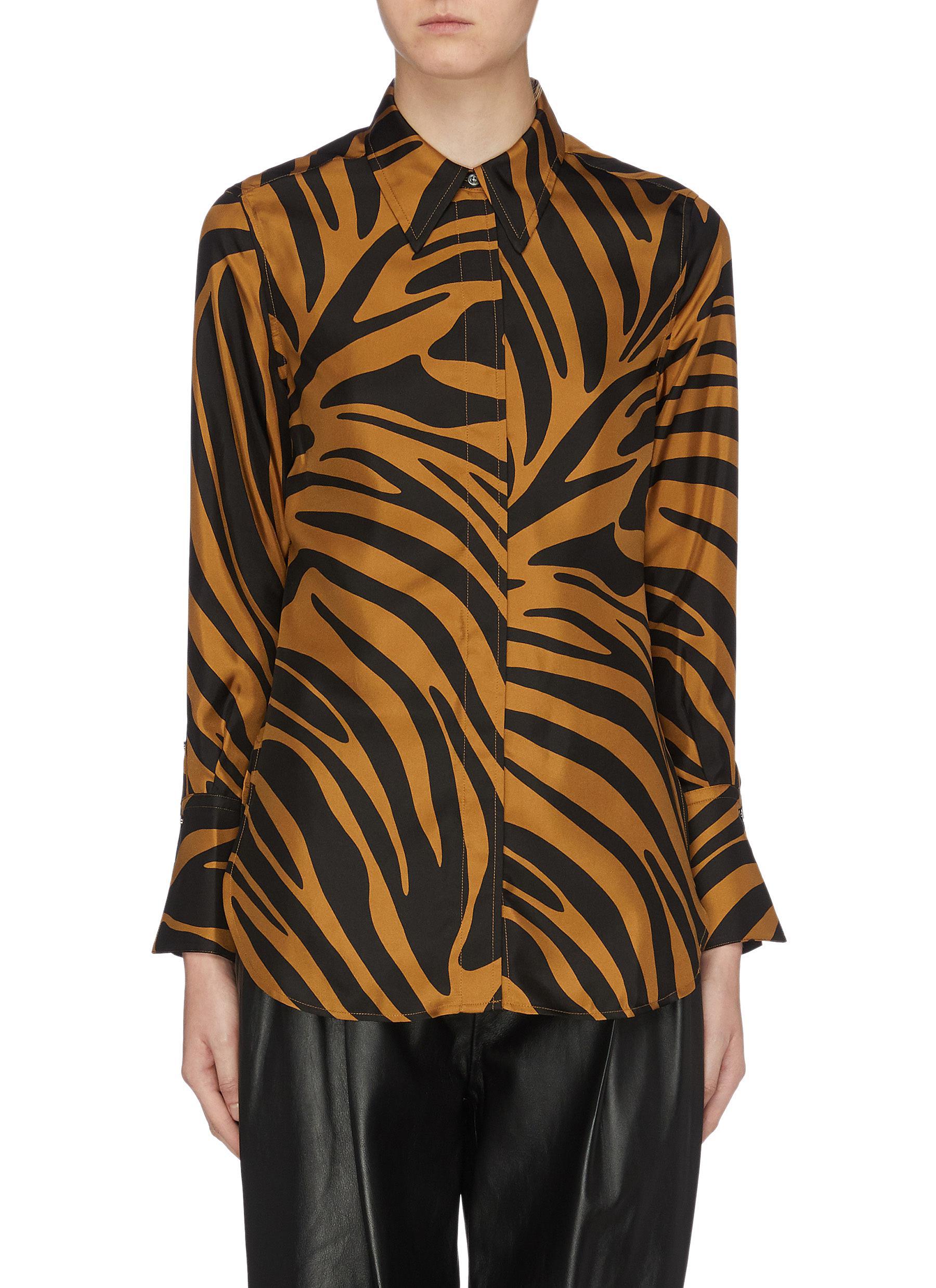 Zebra print silk satin blouse by 3.1 Phillip Lim