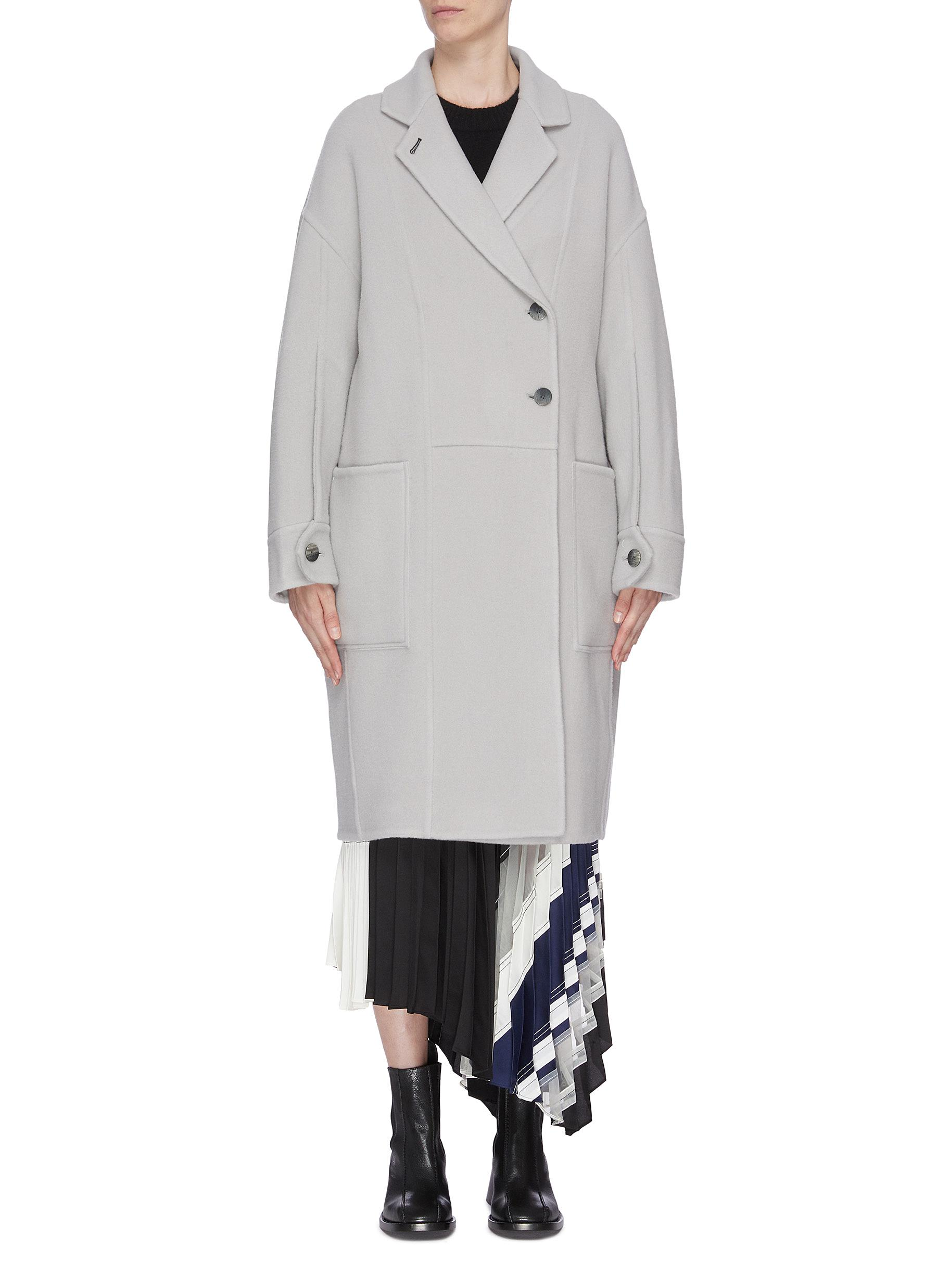Oversized coat with decorative seams by 3.1 Phillip Lim