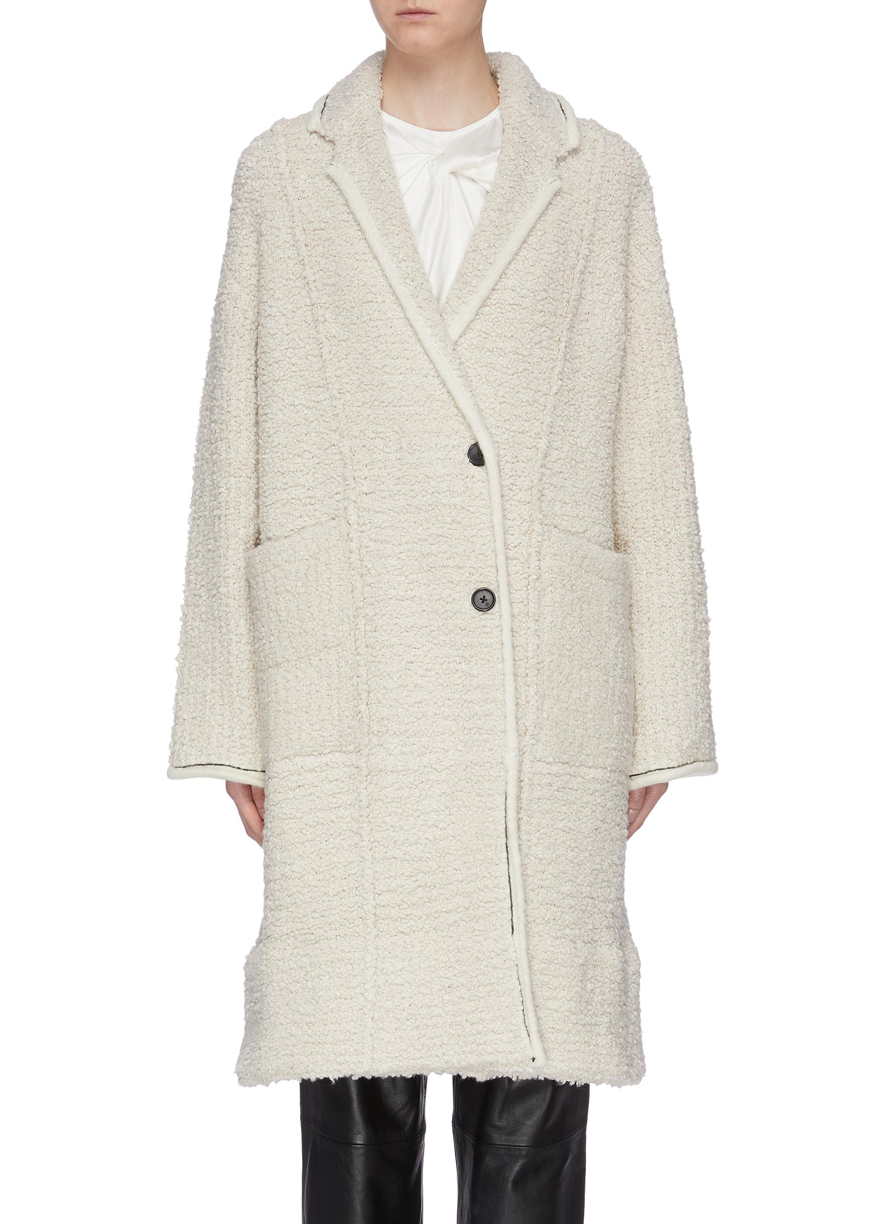 Patch pocket oversized bouclé coat by 3.1 Phillip Lim