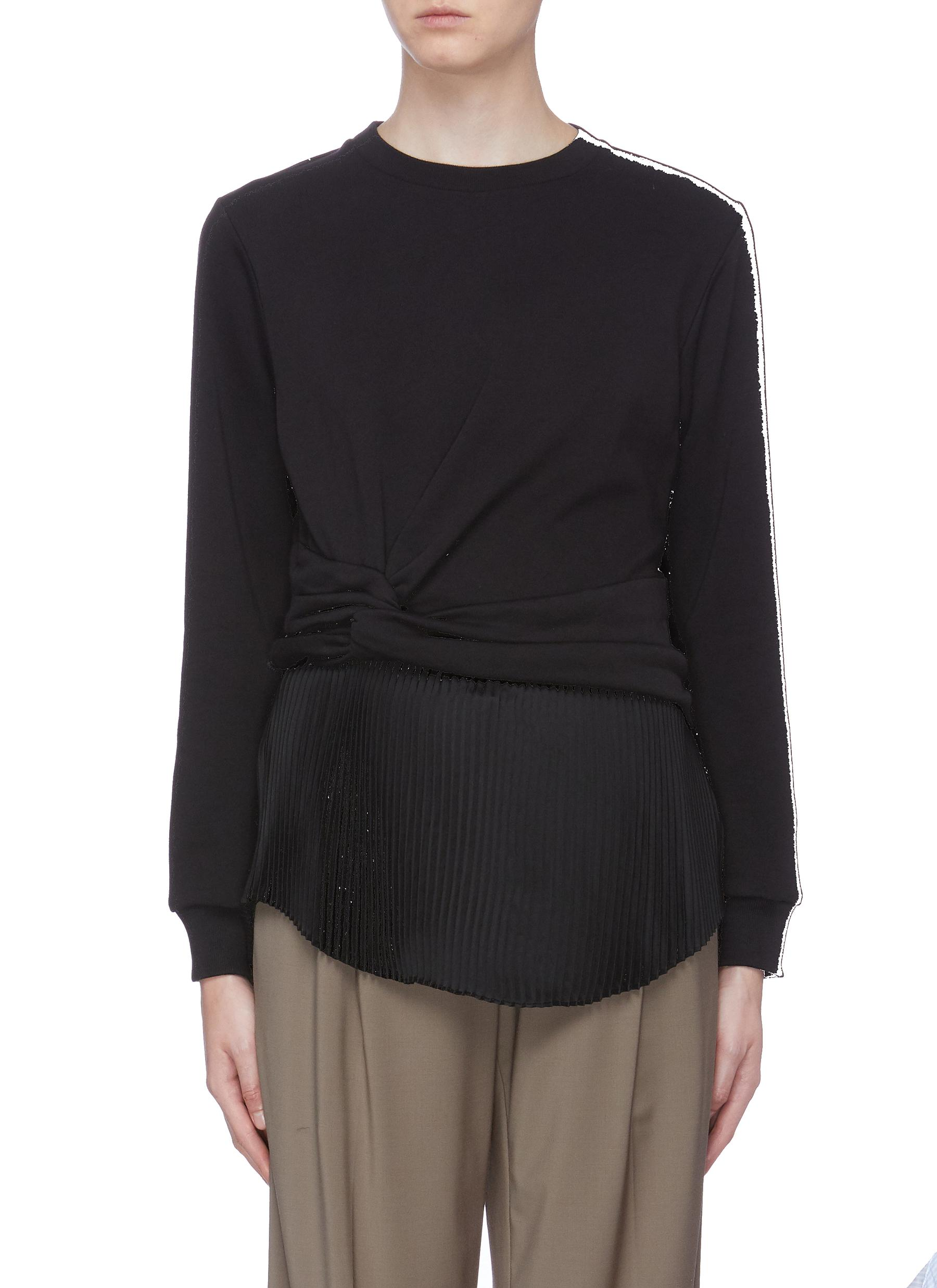 Knot side pleated underlay sweatshirt by 3.1 Phillip Lim