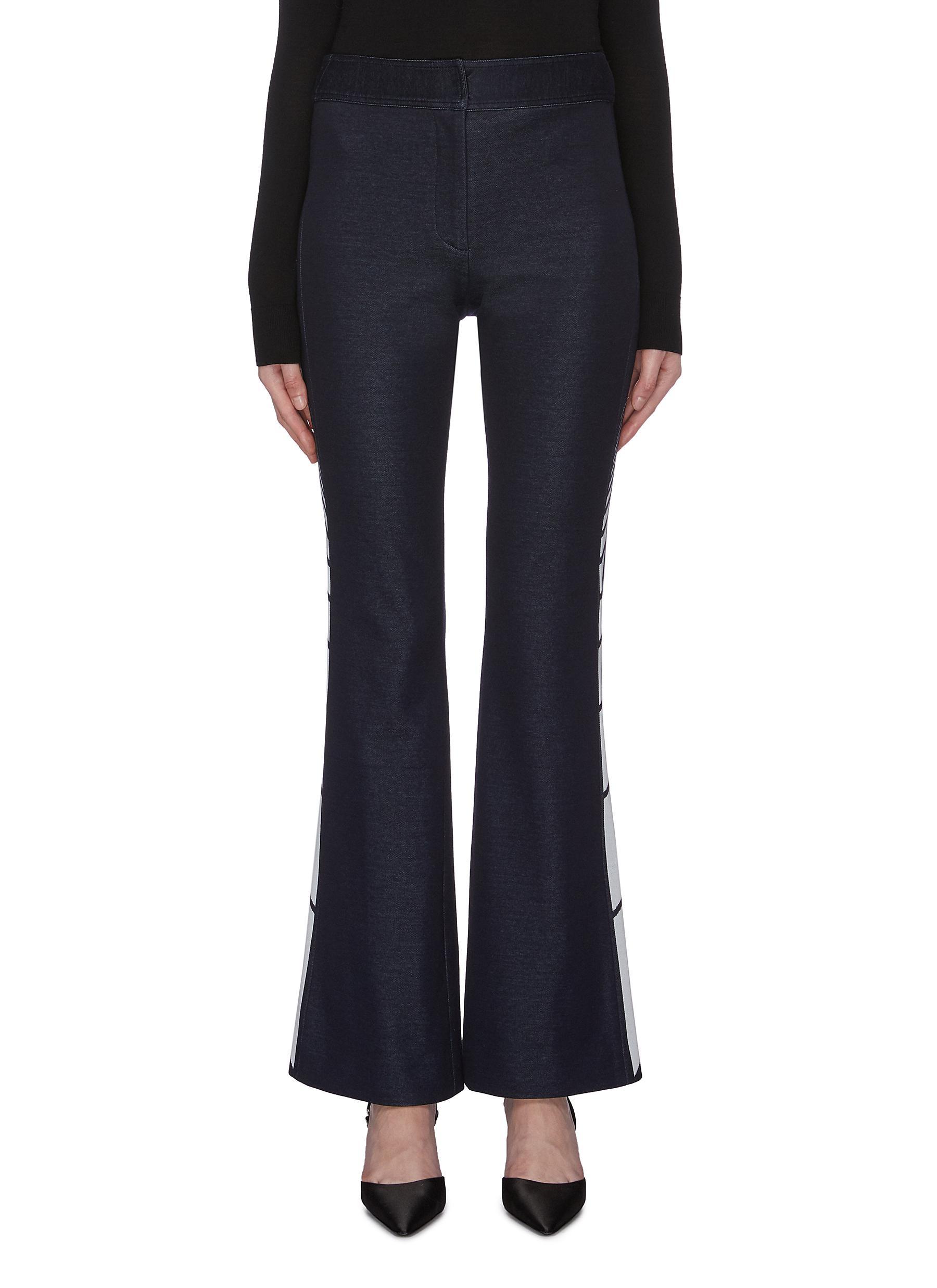 Zip cuff stripe jacquard outseam pants by Monse