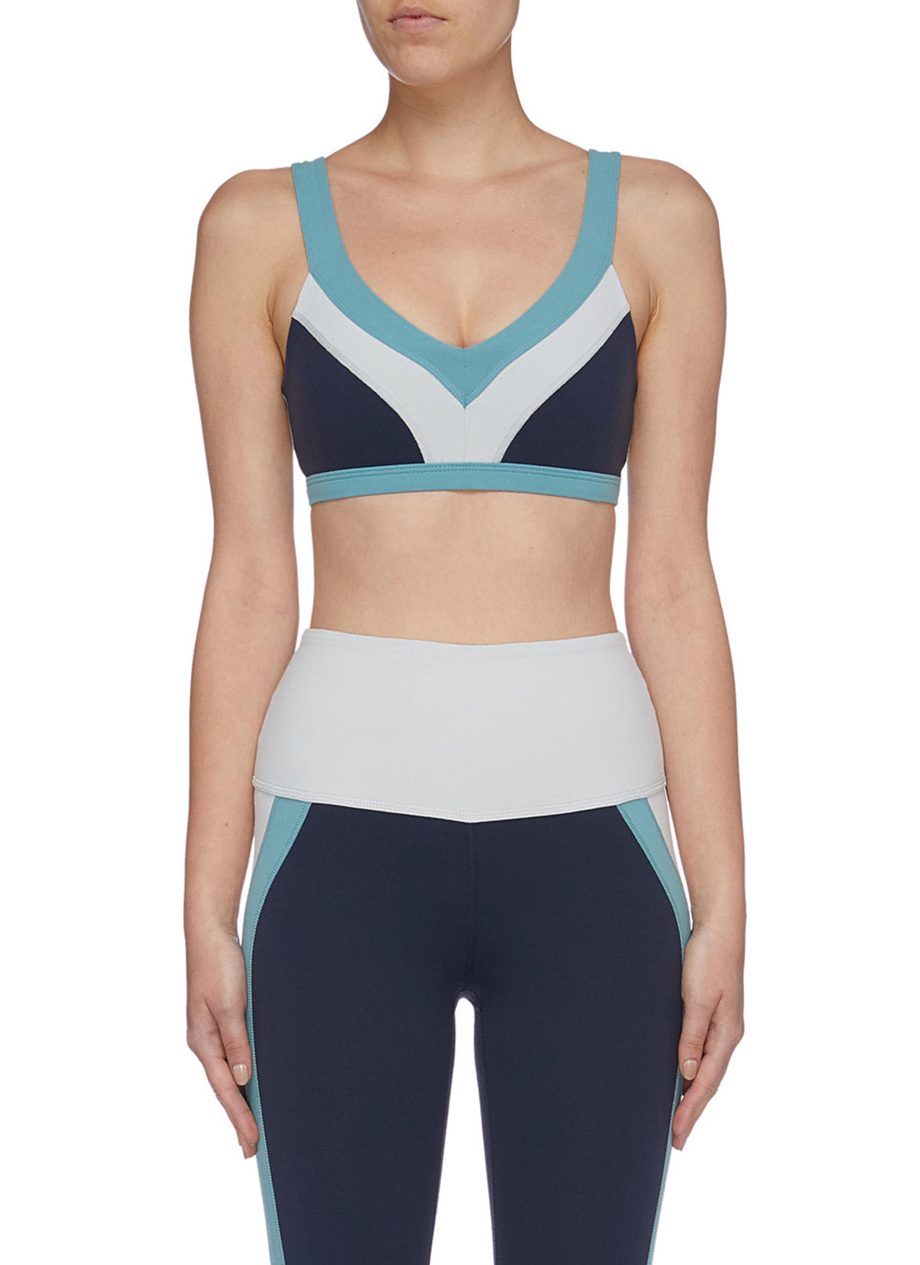 True colourblock sports bra by Beyond Yoga