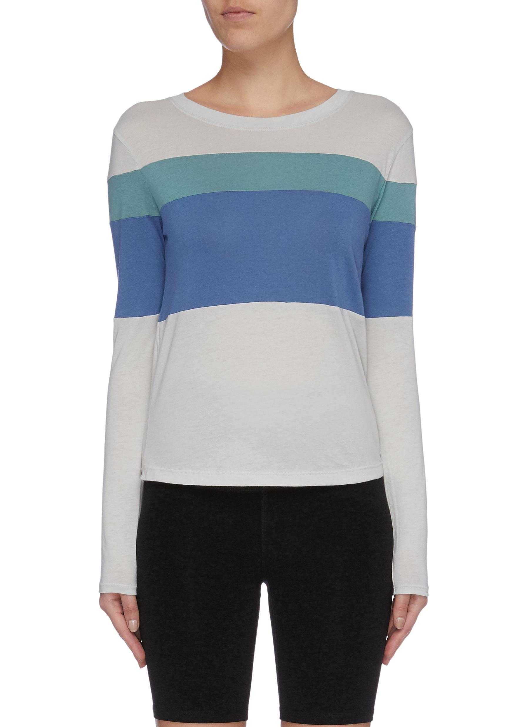 Colourblock panelled sweatshirt by Beyond Yoga