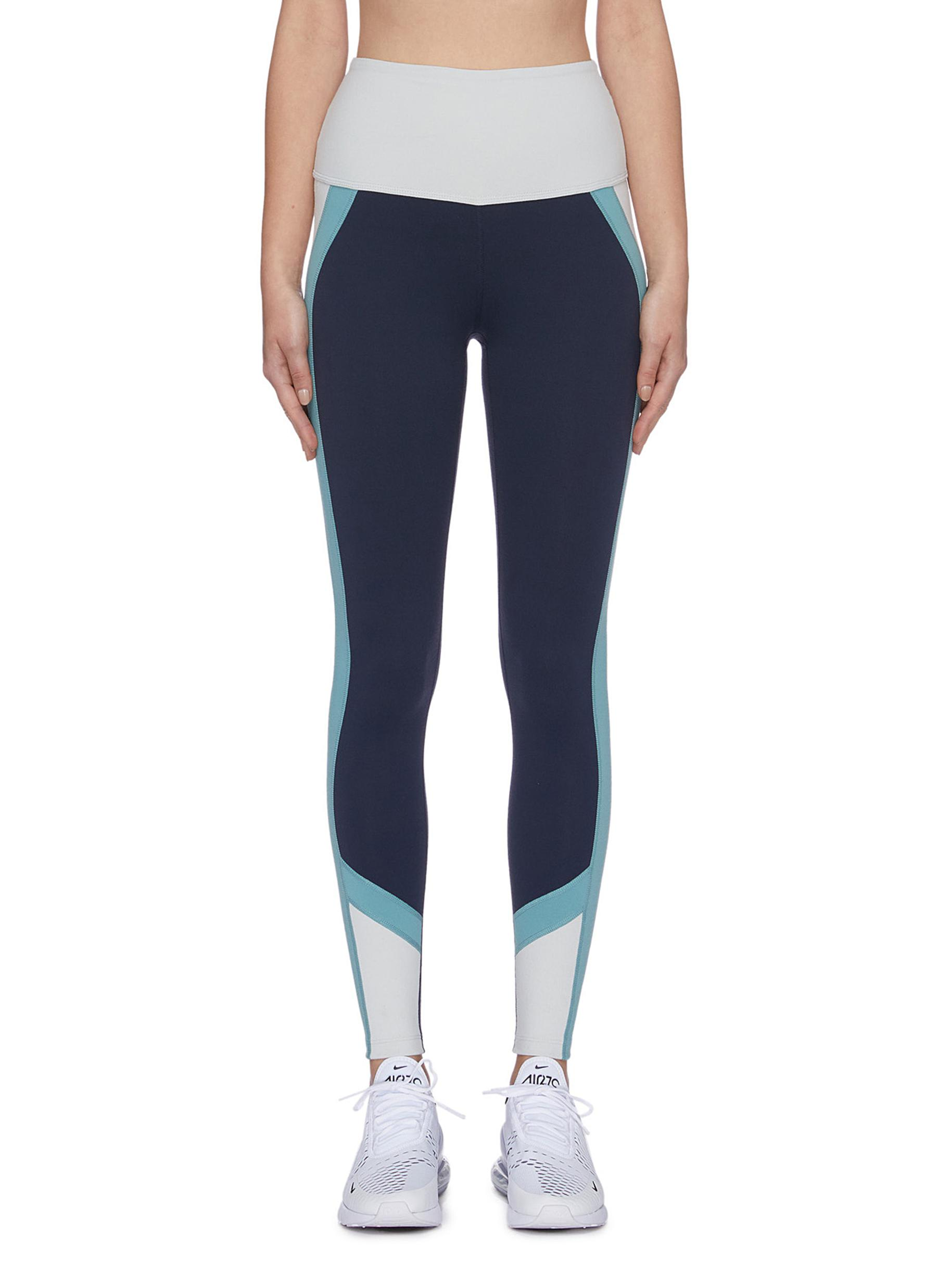 True Colorblock performance leggings by Beyond Yoga