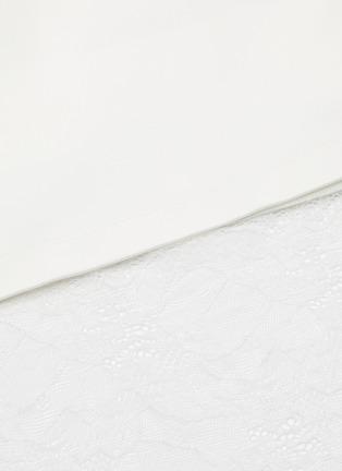 - JONATHAN LIANG - Lace trim tie waist cropped sleeveless top