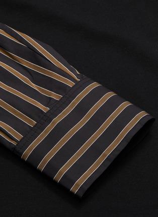 - FENG CHEN WANG - Stripe shirt sleeve layered polo shirt
