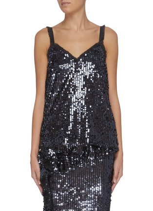 Main View - Click To Enlarge - NEEDLE & THREAD - 'Scarlett' sleeveless sequin slip top