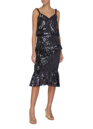 Figure View - Click To Enlarge - NEEDLE & THREAD - 'Scarlett' sleeveless sequin slip top