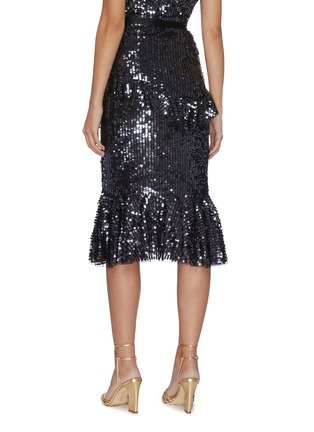 Back View - Click To Enlarge - NEEDLE & THREAD - 'Scarlett' ruffled sequin skirt