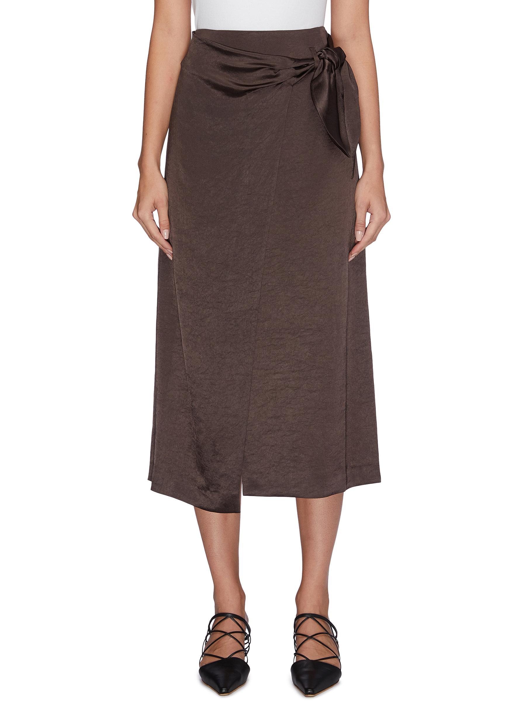 Amas satin midi skirt by Nanushka