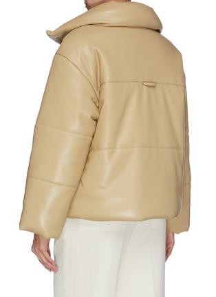 Back View - Click To Enlarge - NANUSHKA - 'Hide' vegan leather puffer jacket