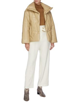Figure View - Click To Enlarge - NANUSHKA - 'Hide' vegan leather puffer jacket