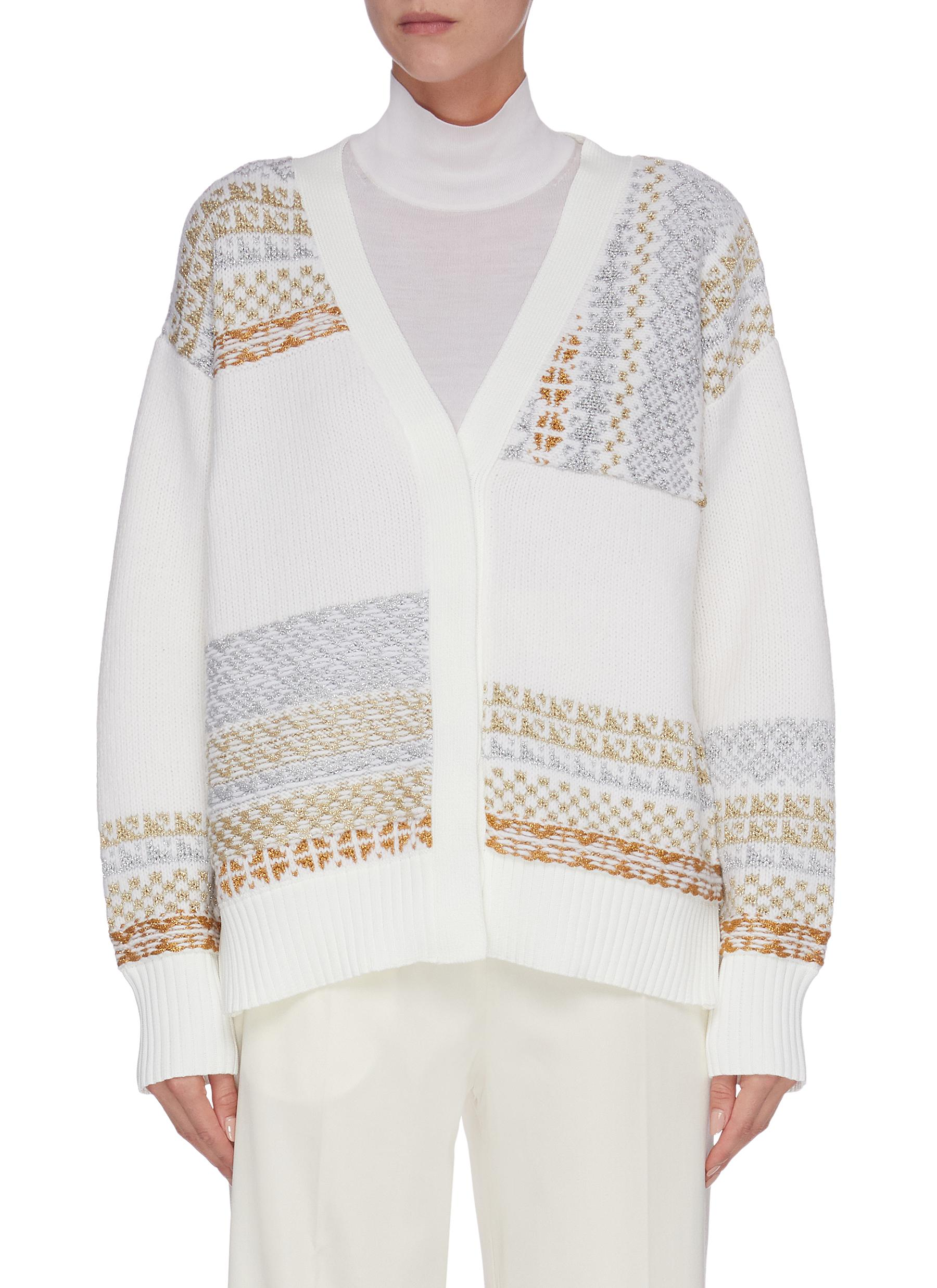 Buy 3.1 Phillip Lim Knitwear 'Fairisle' panelled patchwork cardigan