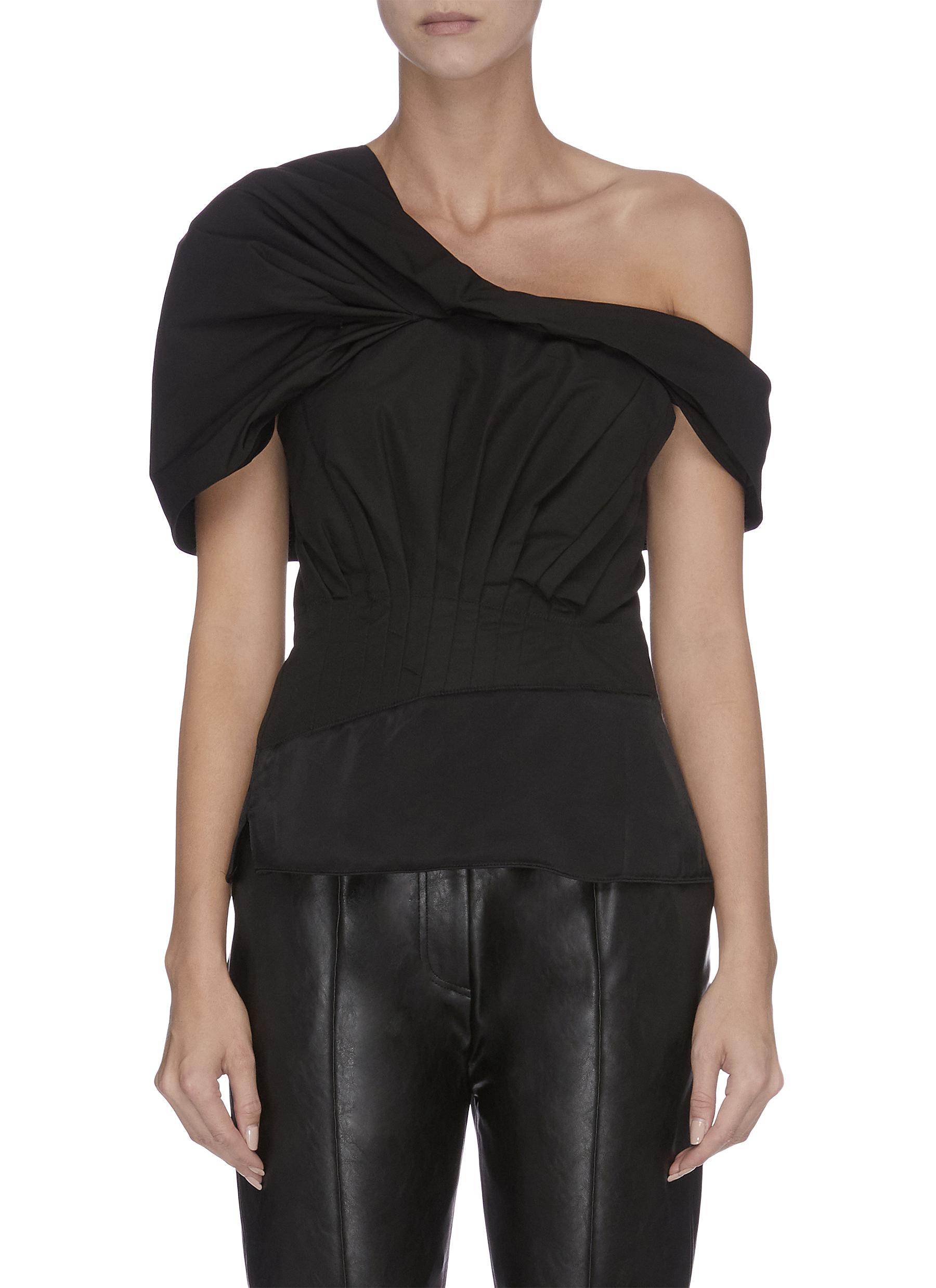 Off shoulder drape panelled top - 3.1 PHILLIP LIM - Modalova