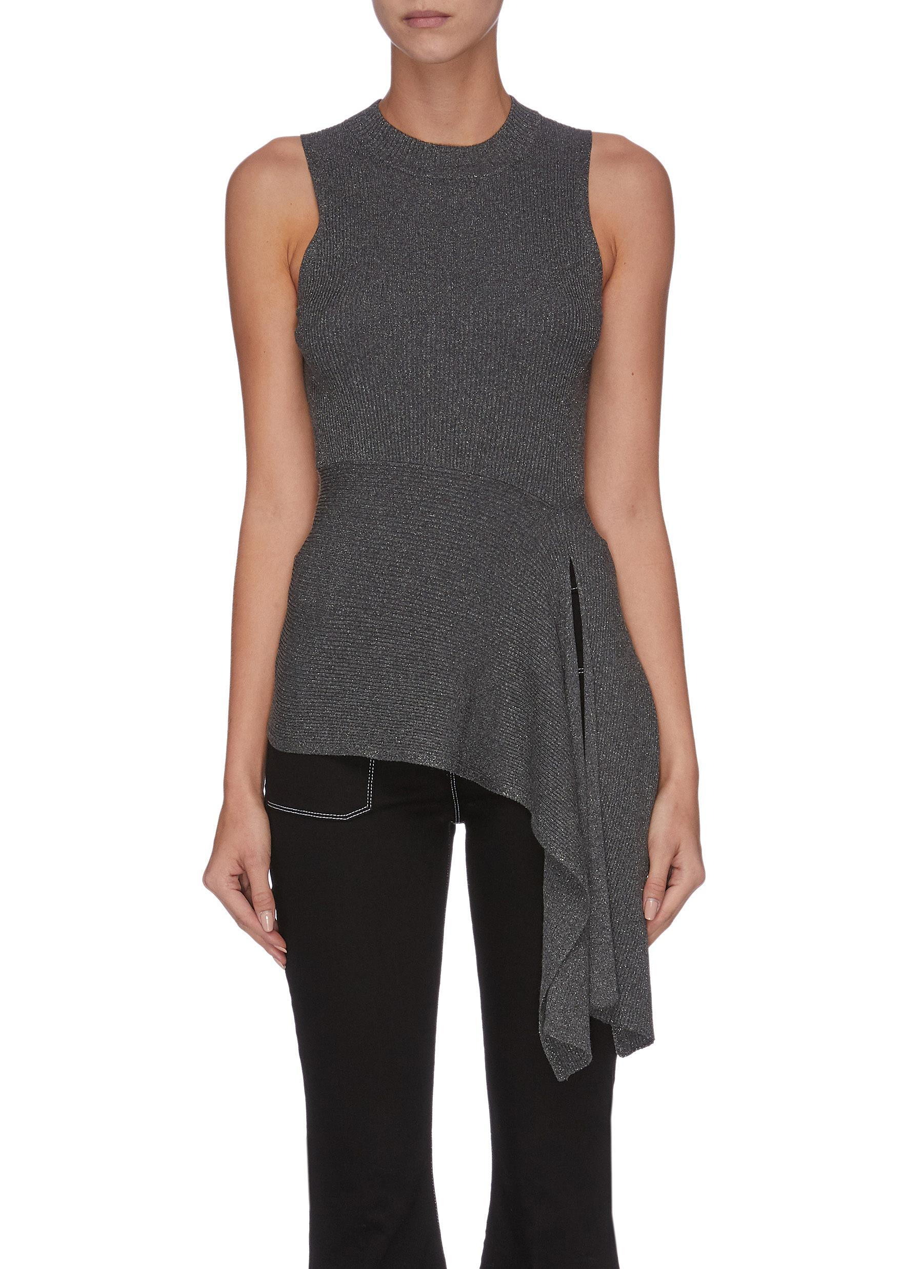 Lurex' asymmetric drape sleeveless knit top - 3.1 PHILLIP LIM - Modalova