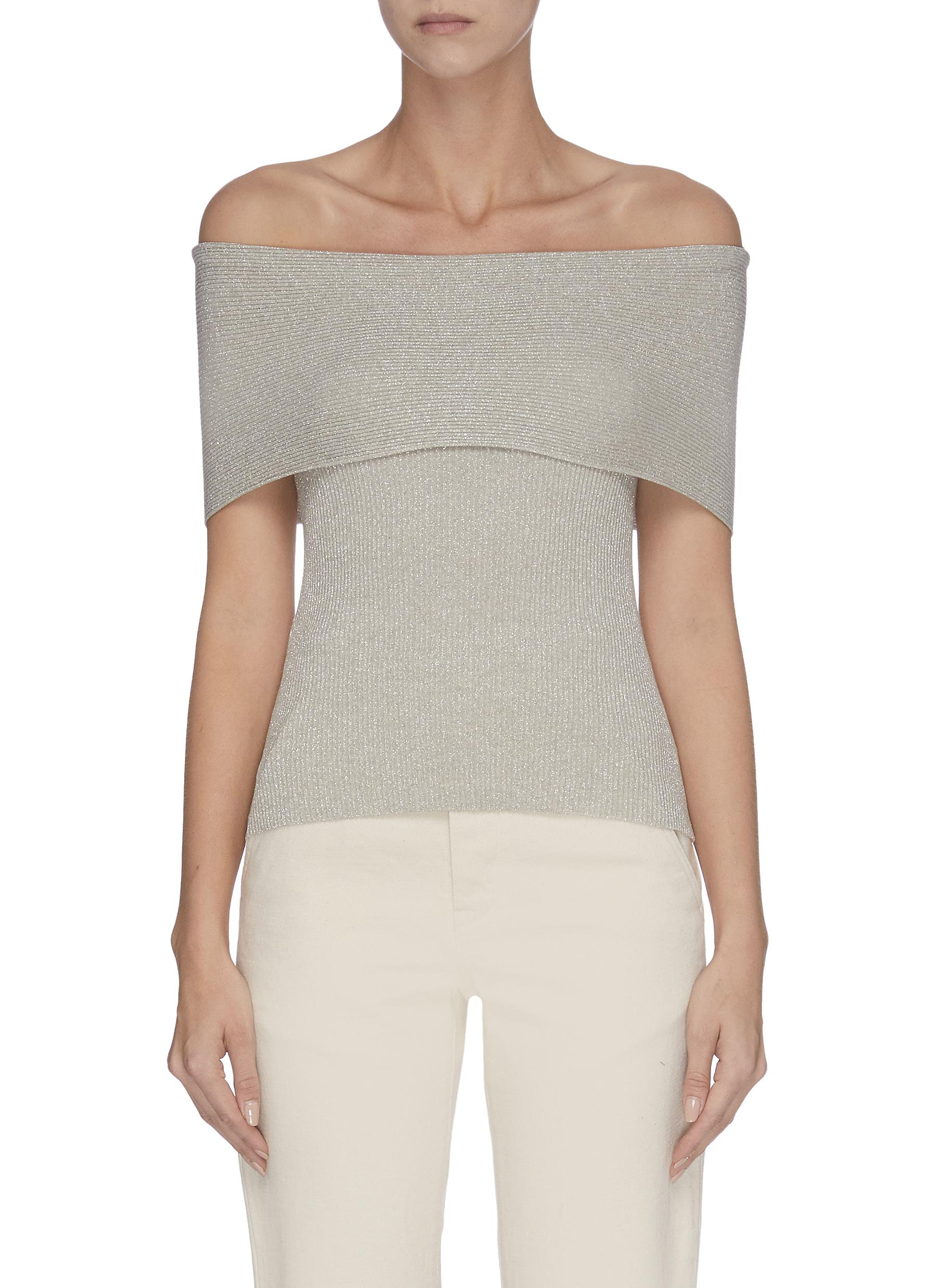 Lurex' off-shoulder sleeveless knit top - 3.1 PHILLIP LIM - Modalova