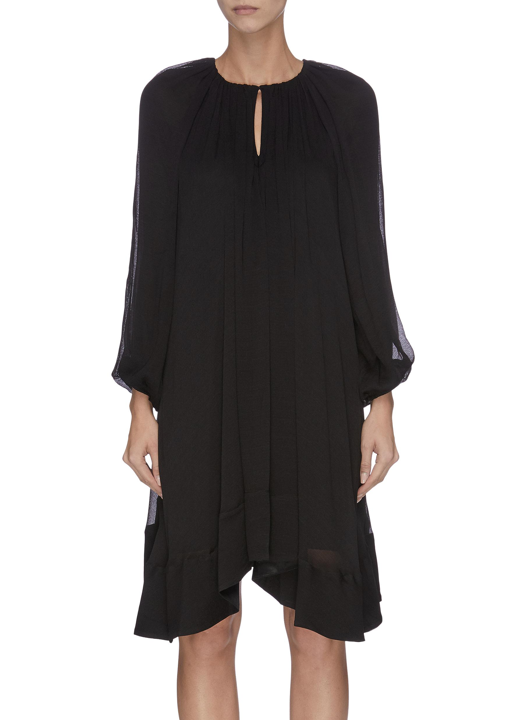 Ruche V-neck bishop sleeve dress - 3.1 PHILLIP LIM - Modalova
