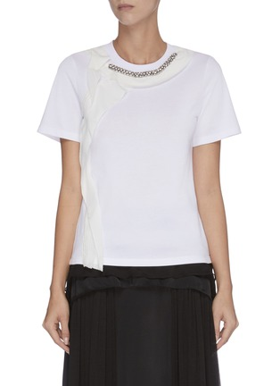 Main View - Click To Enlarge - 3.1 PHILLIP LIM - Ruffle embellished T-shirt