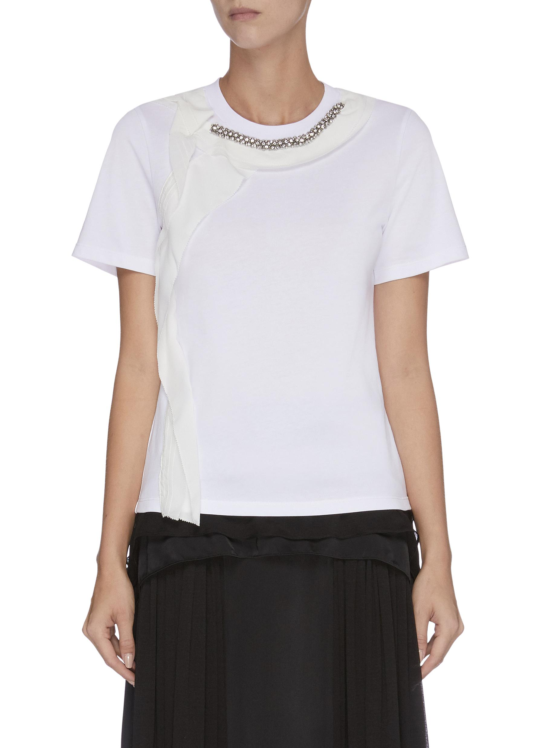 Ruffle embellished T-shirt by 3.1 Phillip Lim