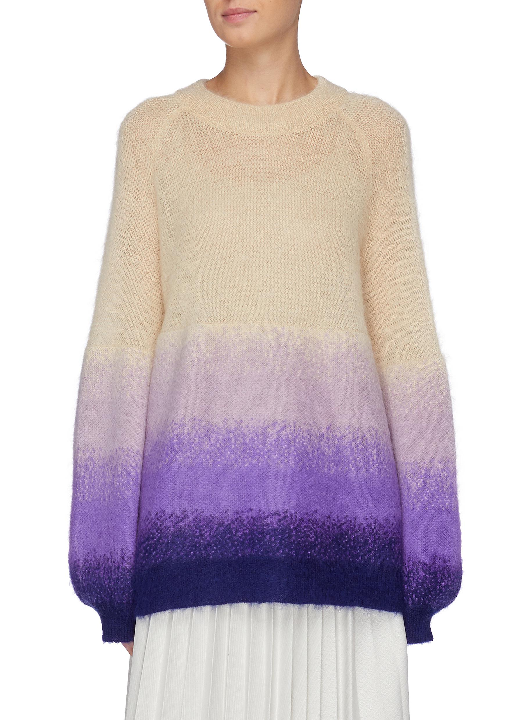 Balloon sleeve gradient Mohair sweater by Short Sentence