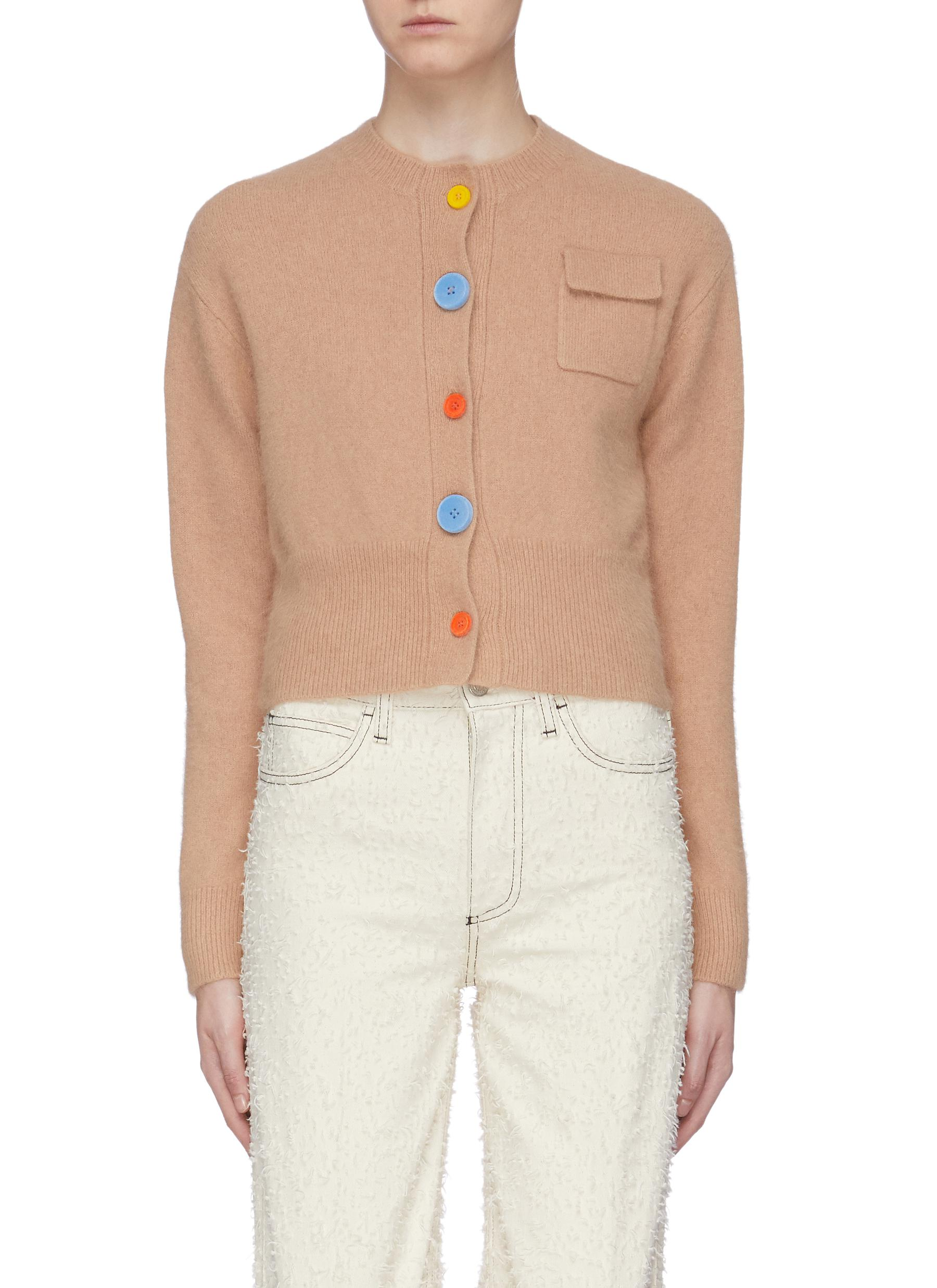 Colourblock button cardigan by Short Sentence